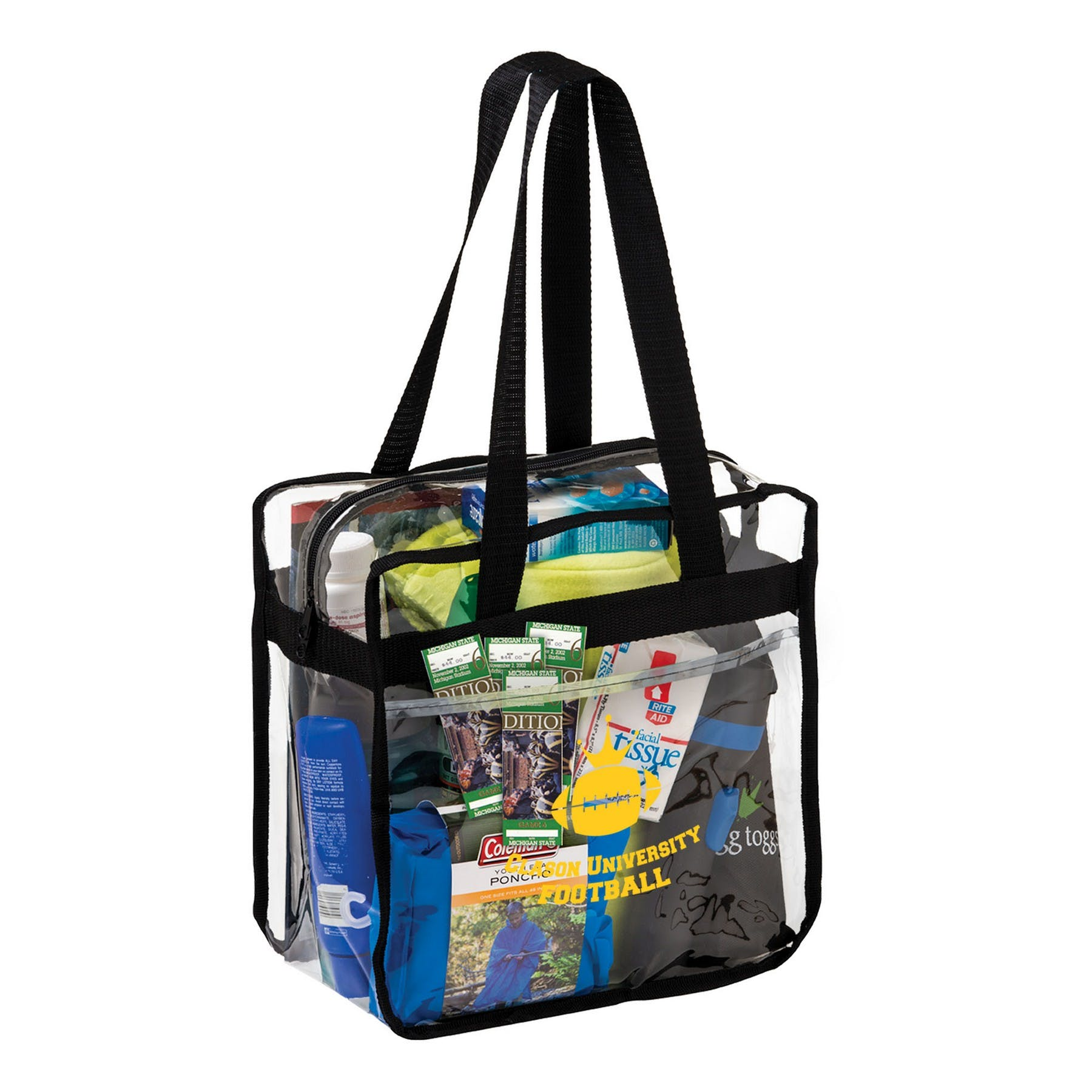 Clear Zipper Tote Bag Item Pcmhr Jmvae Bag Sold By