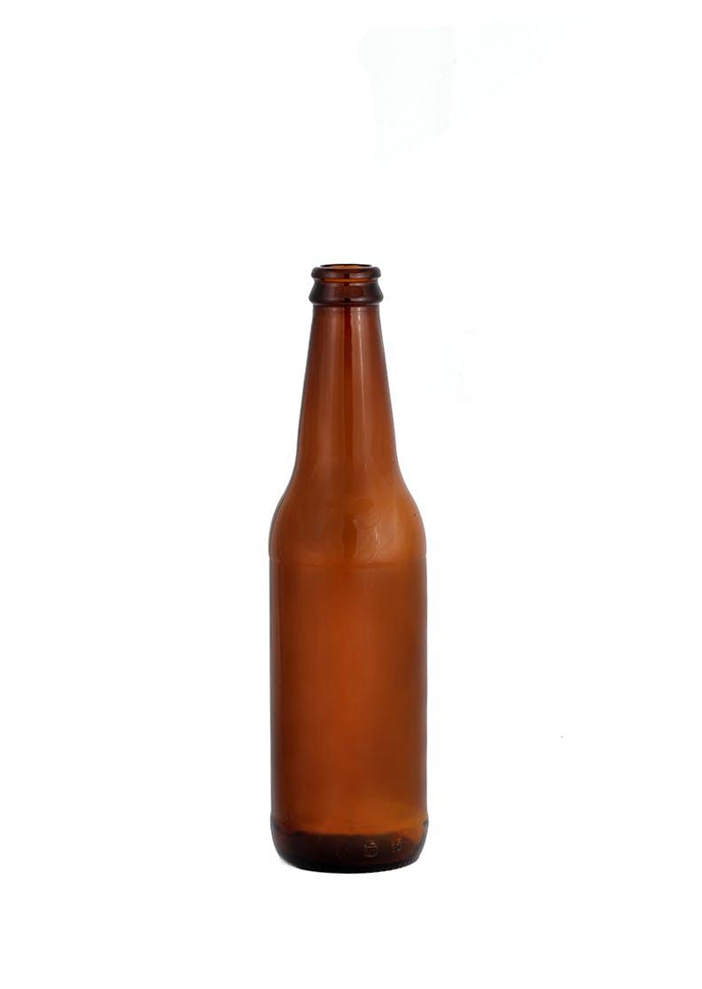 Oz Round Glass Bottles Crown Cap