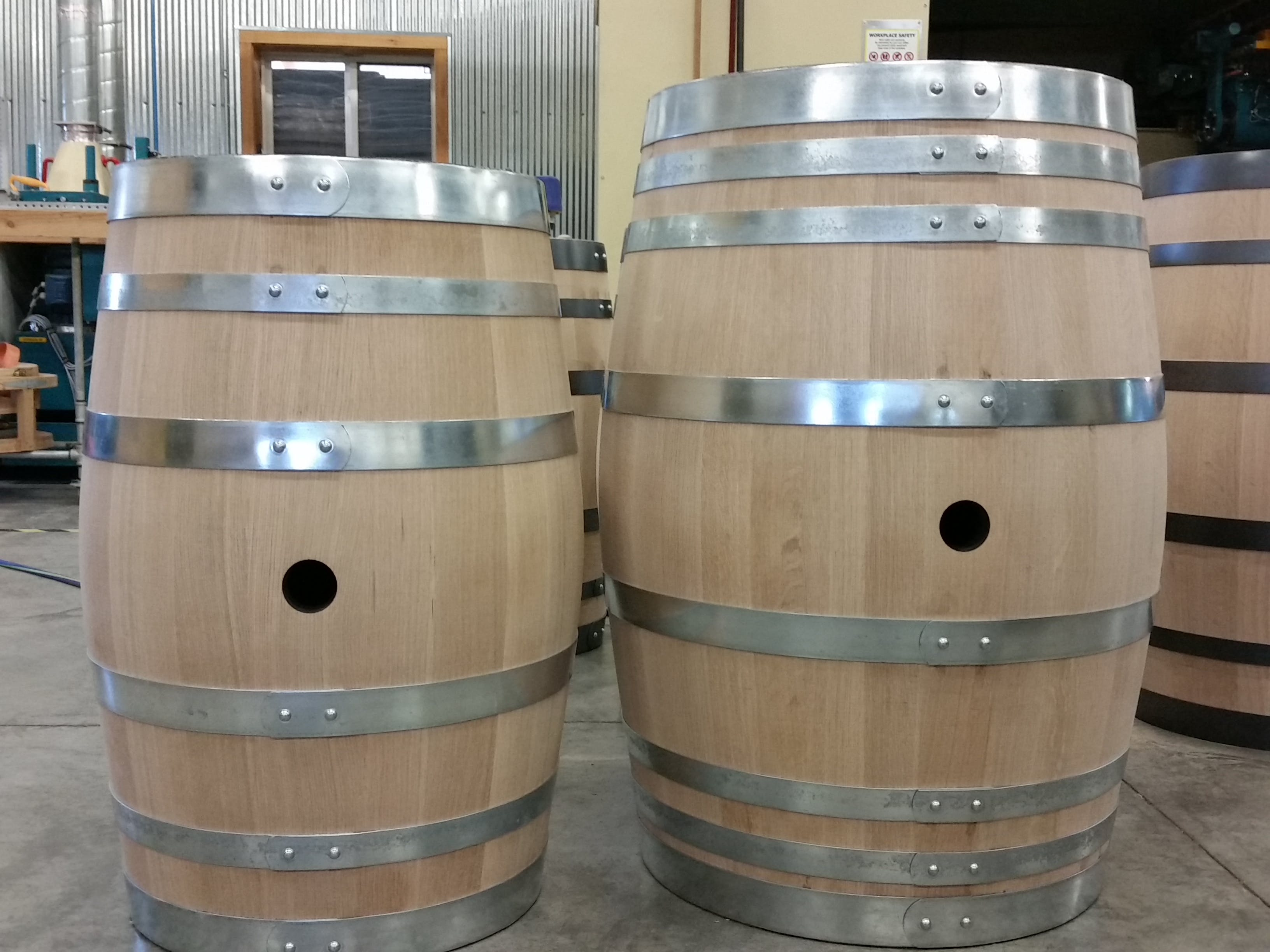 image of oak barrels sourced from Adirondack Cooperage