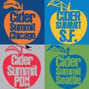 Image of all 4 Cider Summit logos pieced together as one image