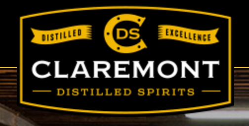 An image of the Claremont distillery logo on a black background