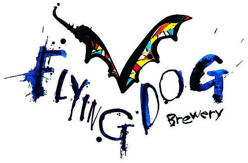 Image of Flying Dog Brewery logo, created by artist Ralph Steadman