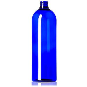 Image of a blue plastic PET beer growler