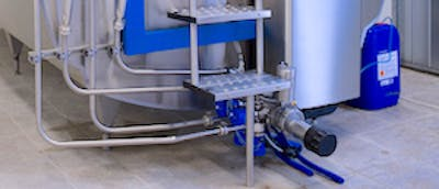 Photo of a scroll compressor in a milk cooling system from DeLaval Milking Systems