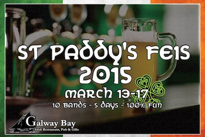 Image of Galway Bay Pub's advertisement for St. Paddy's Feis 2015