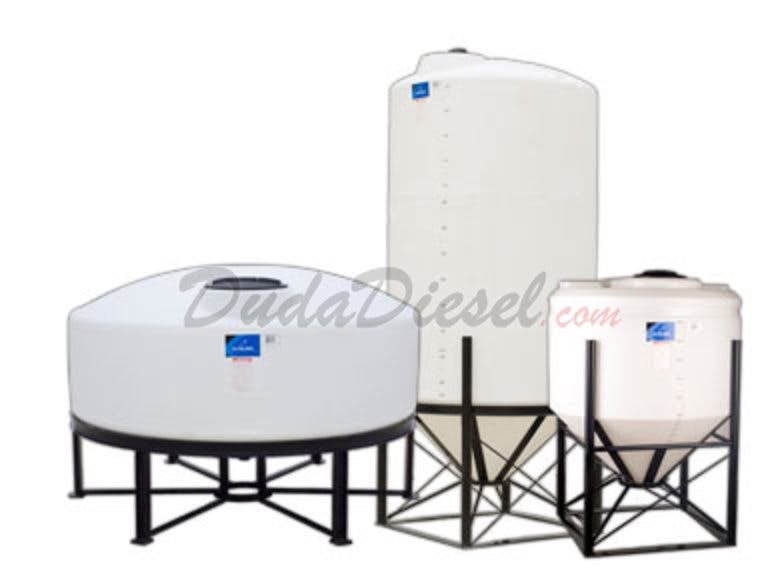 CONE, HORIZONTAL, AND VERTICAL TANKS Plastic tank sold by Duda Energy