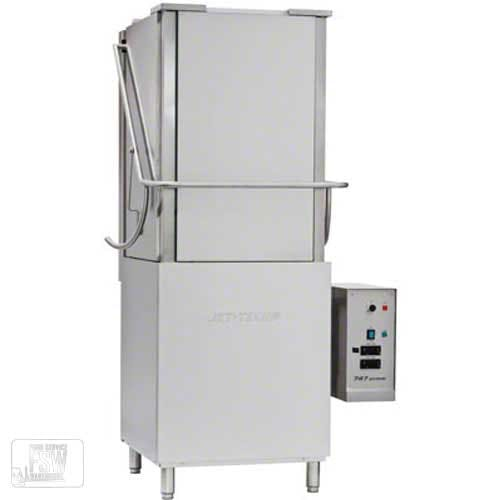 Jet Tech - 747HH 40 Rack/Hr High-Temp Door-Type Deluxe High Hood Warewasher Commercial dishwasher sold by Food Service Warehouse