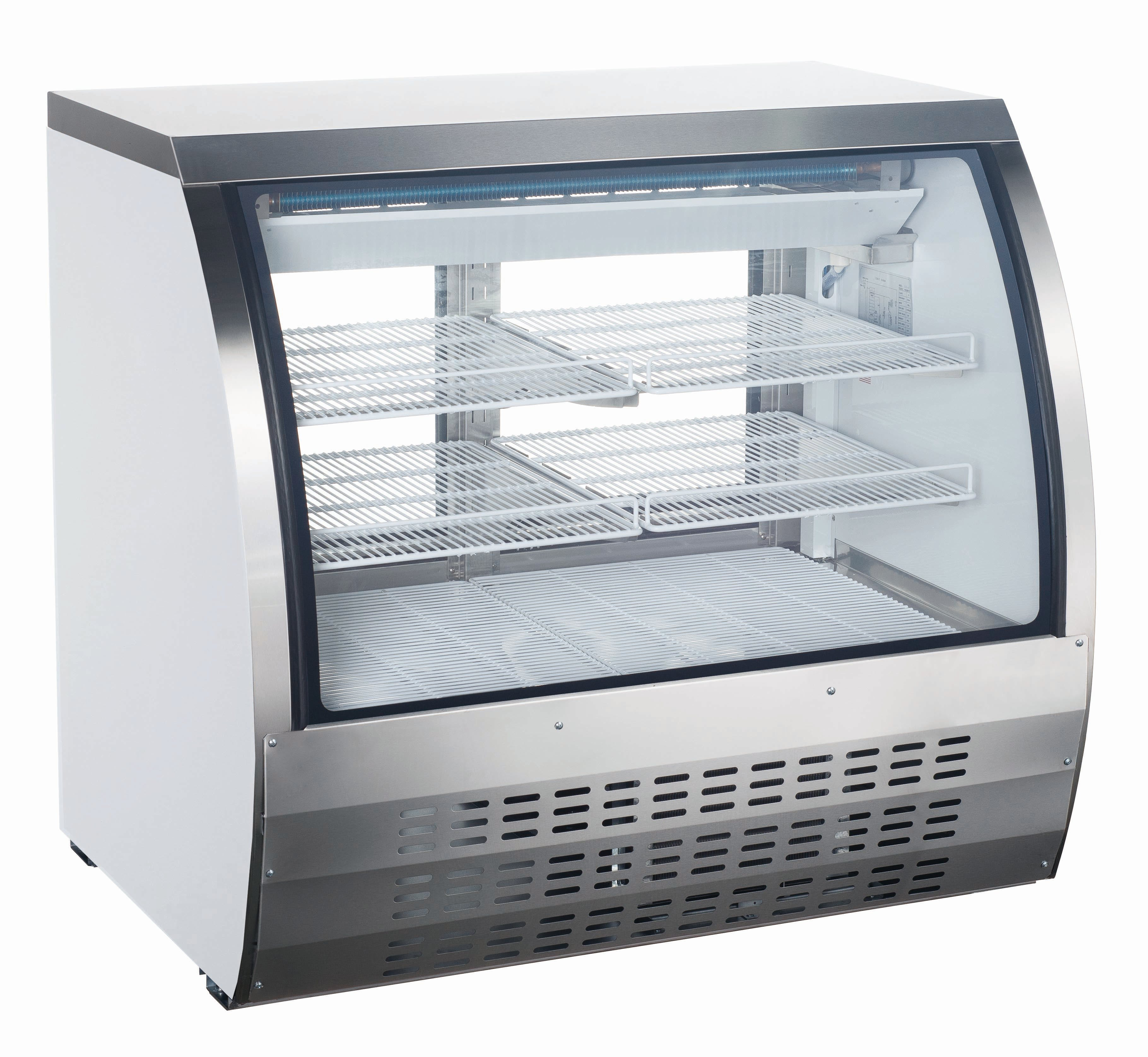 "Curved Glass 47"" Refrigerated Deli Case"