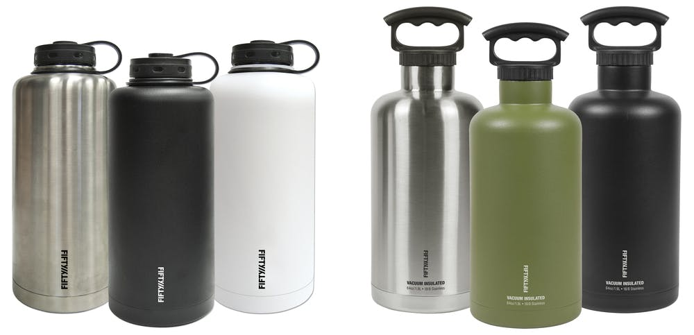 64oz - Insulated Stainless Growler Growler sold by Fifty/Fifty Bottles (Icy-Hot Hydration, LLC)
