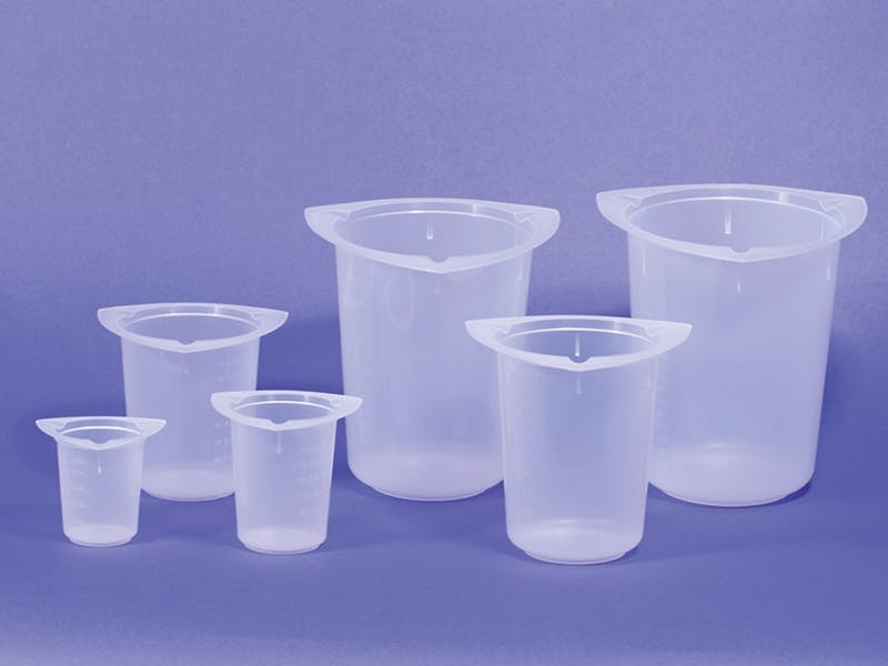 Tri-Corner Beakers Disposable beaker sold by Qorpak