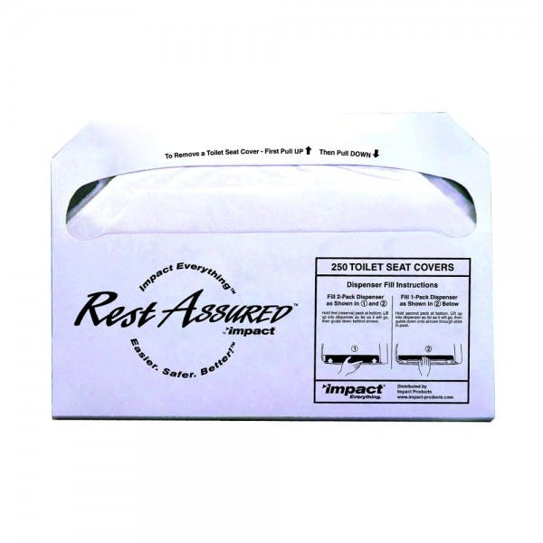 Rest Assured™ Pack of 250 Paper Toilet Seat Covers