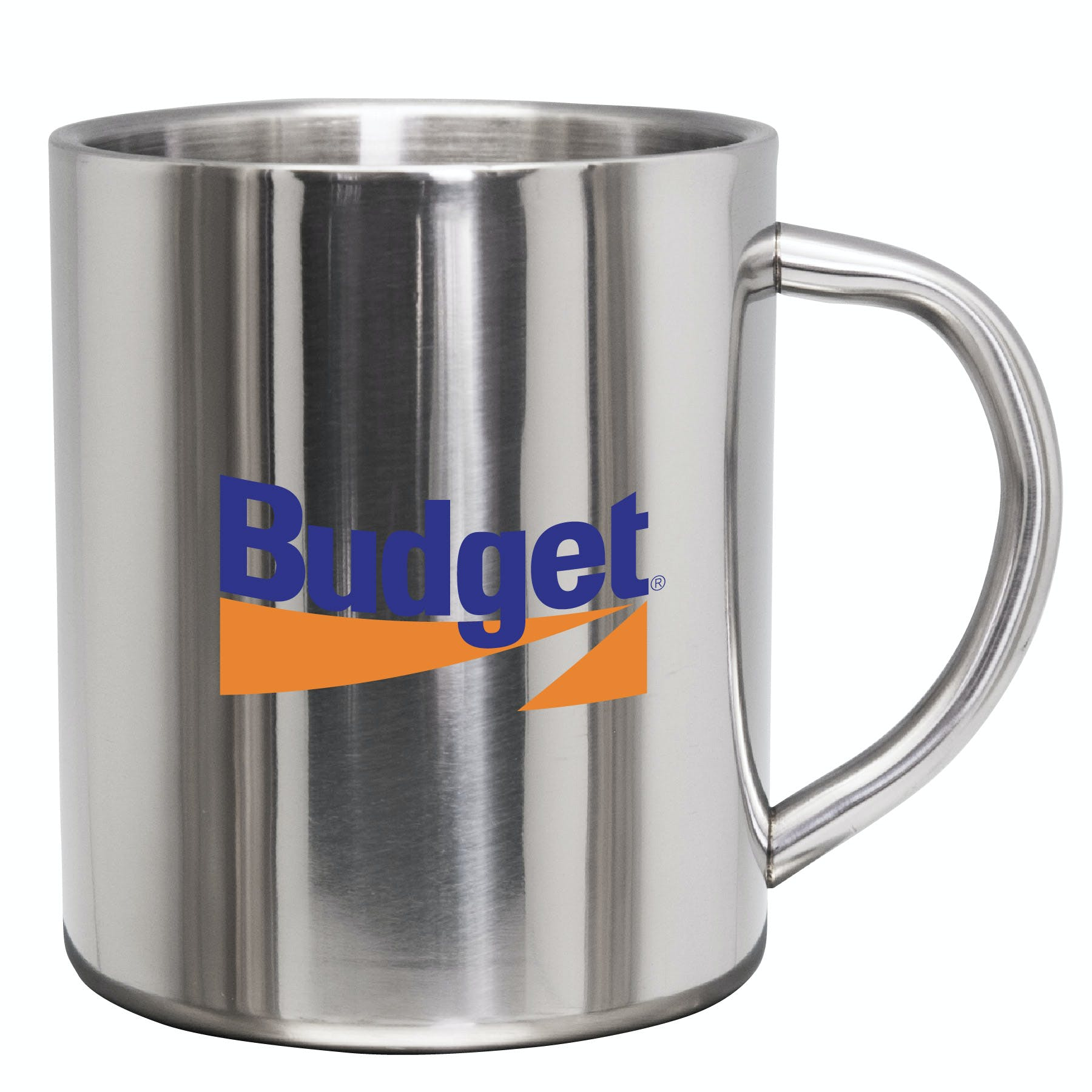 9 Oz. Stainless Steel Coffee Mug (Item # YBKMO-JIWOP) Stainless steel mug sold by InkEasy