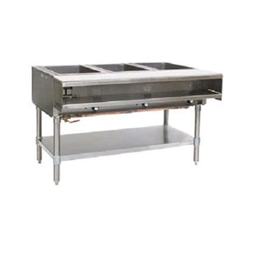 Eagle Metal Masters SHT3-120 Steam Table, Electric Steam Table, 3 Well, 120 Volt Steam table sold by Mission Restaurant Supply
