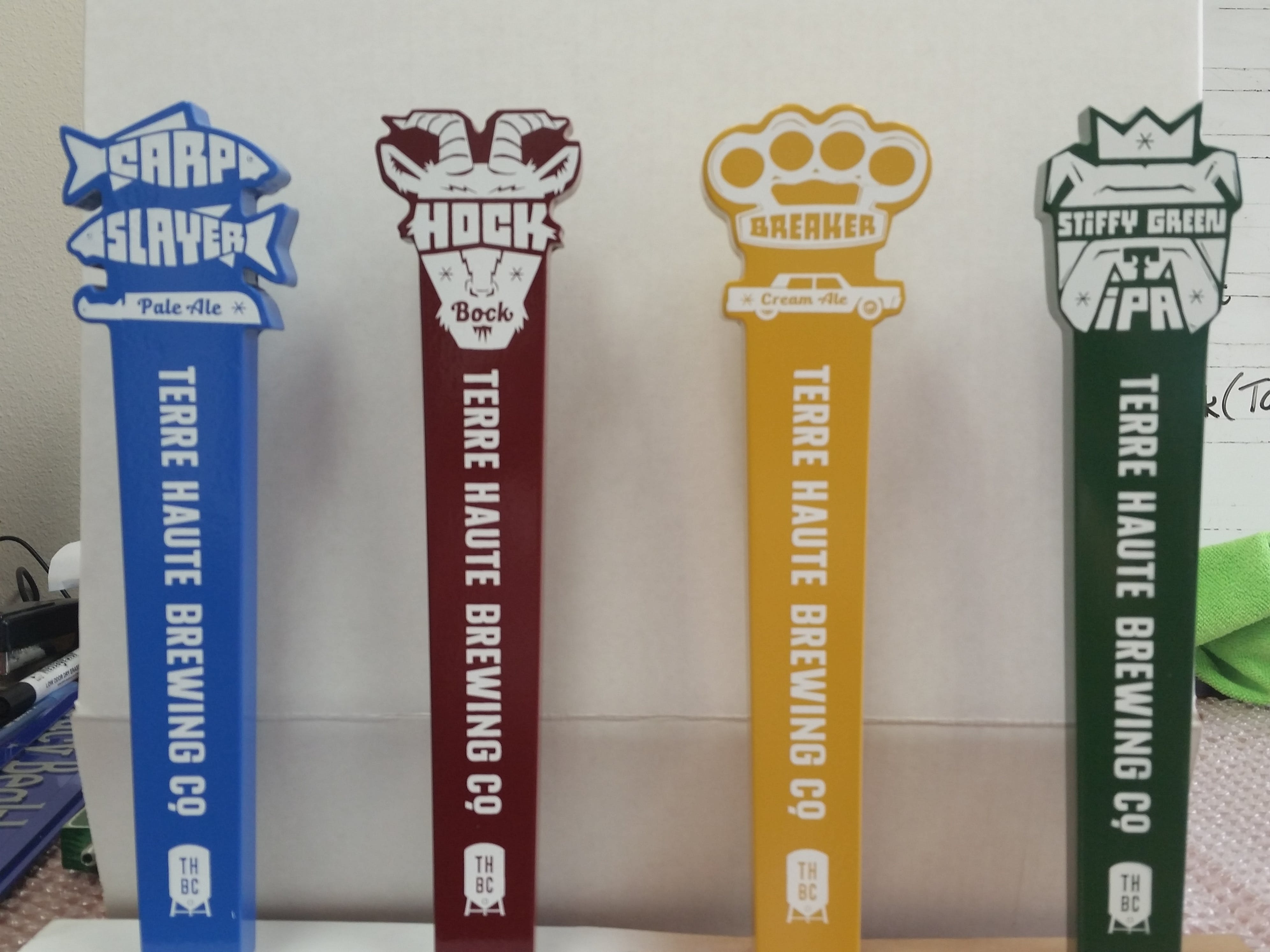 Wood (Enamel Coated) with Screen Printed Logo Tap handle sold by Brewlicious Beer