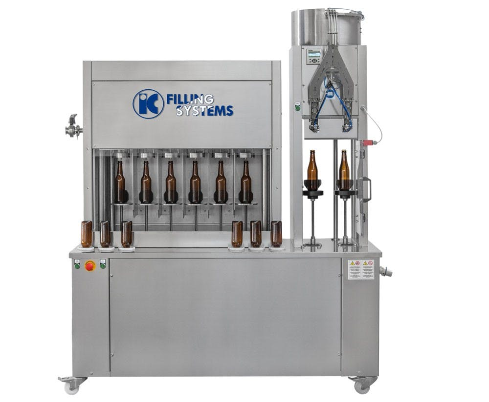 Rinser Filler Capper for beer (semi-auto - 500bph) Bottle filler sold by IC Filling Systems