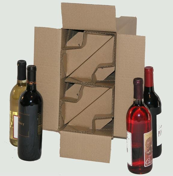 4 bottle kraft shipper Wine shipper sold by Gorilla Shipper