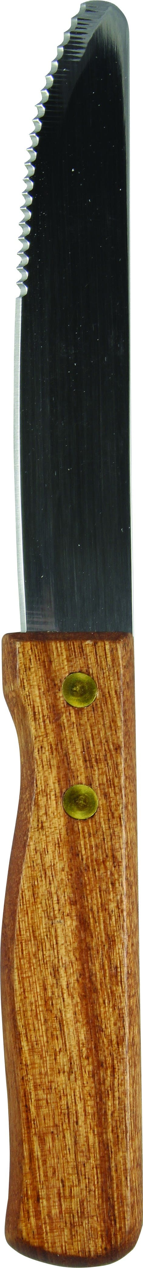 """9.875"""" Round Tip Steak Knife with Rosewood Handle Flatware sold by Prestige Glassware"""