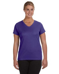 1790 Augusta Sportswear Ladies' Moisture-Wicking V-Neck T-Shirt Promotional shirt sold by Lee Marketing Group