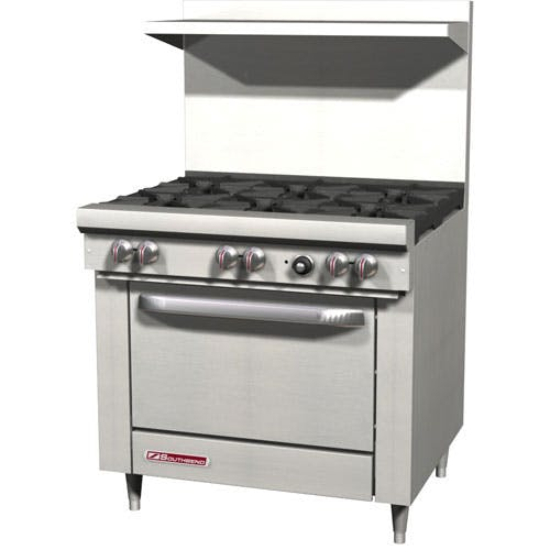 "Southbend (S36D) - 36"" Gas Open Burner Restaurant Range - S Series Commercial range sold by Food Service Warehouse"