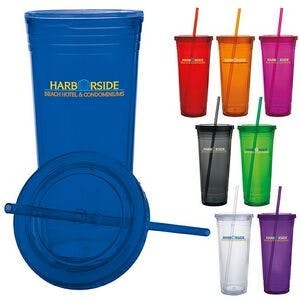 24 Oz. Double Wall Acrylic Tumbler Plastic cup sold by Dechan, Inc. II