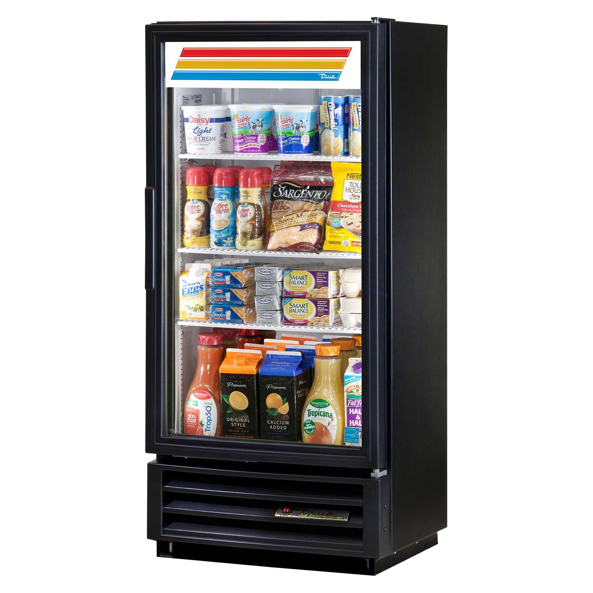 "True - GDM-10SSL-LD 25"" Swing Glass Door Refrigerated Merchandiser Refrigerator LED Commercial refrigerator sold by Food Service Warehouse"