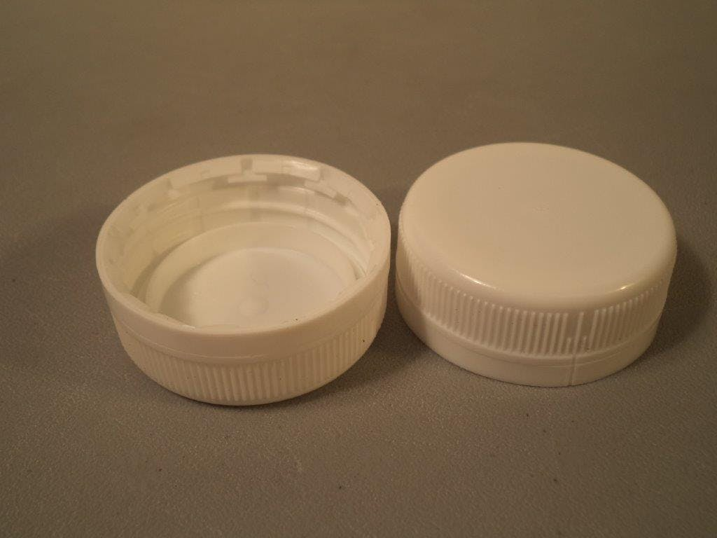 38mm Cap - 8oz Round Bottle - sold by Crystal Vision Packaging Systems