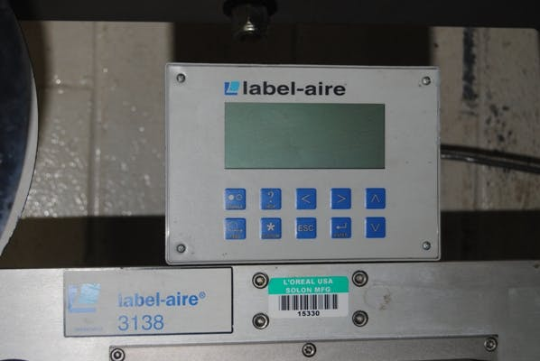 Labelaire model 3138N-TB172RH Pressure Sensitive Labeler with Zebra Printer Bottle labeler sold by Union Standard Equipment Co