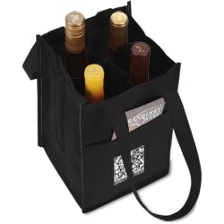 4 Bottle Wine Bag Tote Tote bag sold by 4imprint
