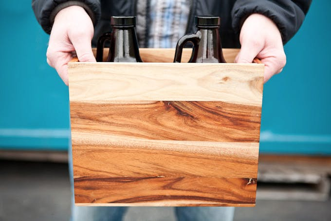 Growler Crate - Two Seater Bottle carrier sold by Growlercrate LLC