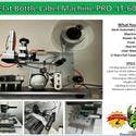 Flat Label Machine PRO-LT-60 - Bottle label sold by Pro Fill Equipment