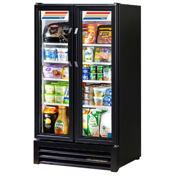 True Manufacturing GDM-30-LD-LD Glass Door Merchandiser, 30 Cu Ft, Swing Door, LED Merchandiser sold by Mission Restaurant Supply