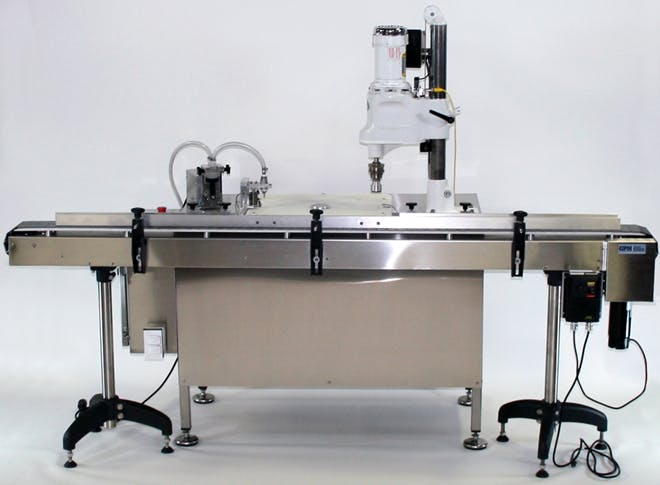 Basic Semi-Automatic Tabletop Systems - GPM Complete Liquid and Viscous Filling Systems - sold by Gentile Packaging Machinery