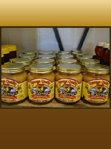 CREAMED HONEY 12OZ - CASE Honey sold by Bennett's Honey Farm