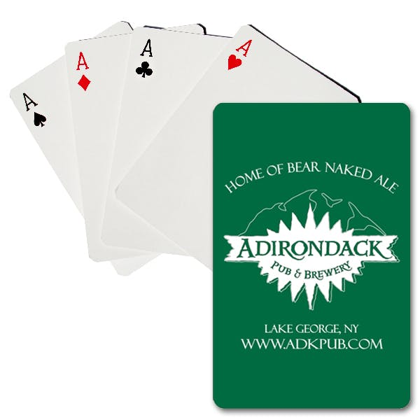 One Color Premium Plastic-Coated Playing Cards Promotional product sold by MicrobrewMarketing.com