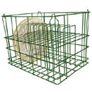 "12 COMPARTMENT WIRE EPOXY DISH BASKET, FITS PLATTERS UP TO 13"" DIA."