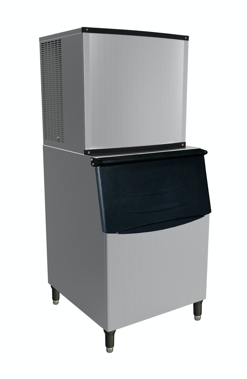 Valpro VPIM1000 - 1000 lbs. Full Cube Ice Maker - Air Cooled - 400 lbs. Ice Bin Included