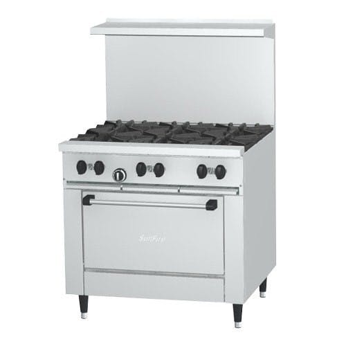 Garland X36-6R Sunfire - 6 Burner Gas Range - (1) Oven Commercial range sold by Elite Restaurant Equipment