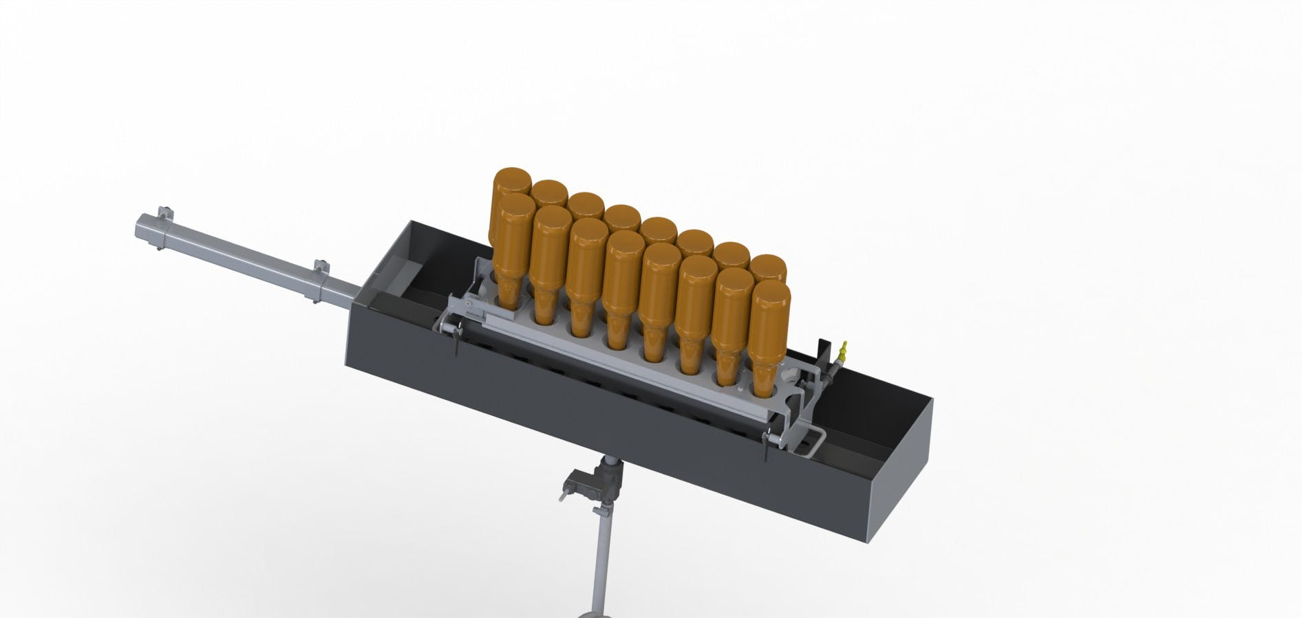 Manual Pre-Rinser for 8 Shooter Bottle washer sold by Martin Robotics