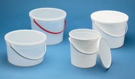 Plastic Pails With Lids  Pail sold by Consolidated Plastics