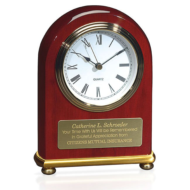 Rosewood Arch Award Clock by Jaffa® Award sold by Distrimatics, USA