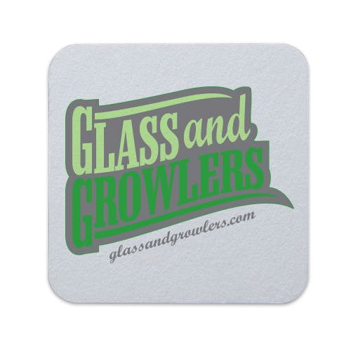 Full Color Square Coasters (Medium Weight 55pt) | Glass and Growlers Drink coaster sold by Glass and Growlers
