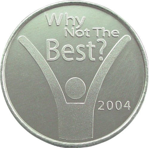 Custom Aluminum Token (Item # ZHLLT-BKOVM) Promotional token sold by InkEasy