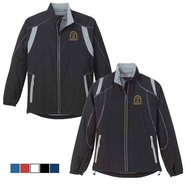 Men/Ladies Color-Block Jacket Promotional apparel sold by MicrobrewMarketing.com