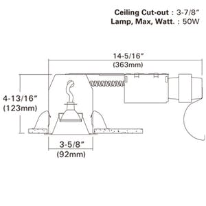 3.5â€_x009d_ NON-IC Type Remodel Housing For Halogen, 12V Low Voltage w/ - sold by RelightDepot.com