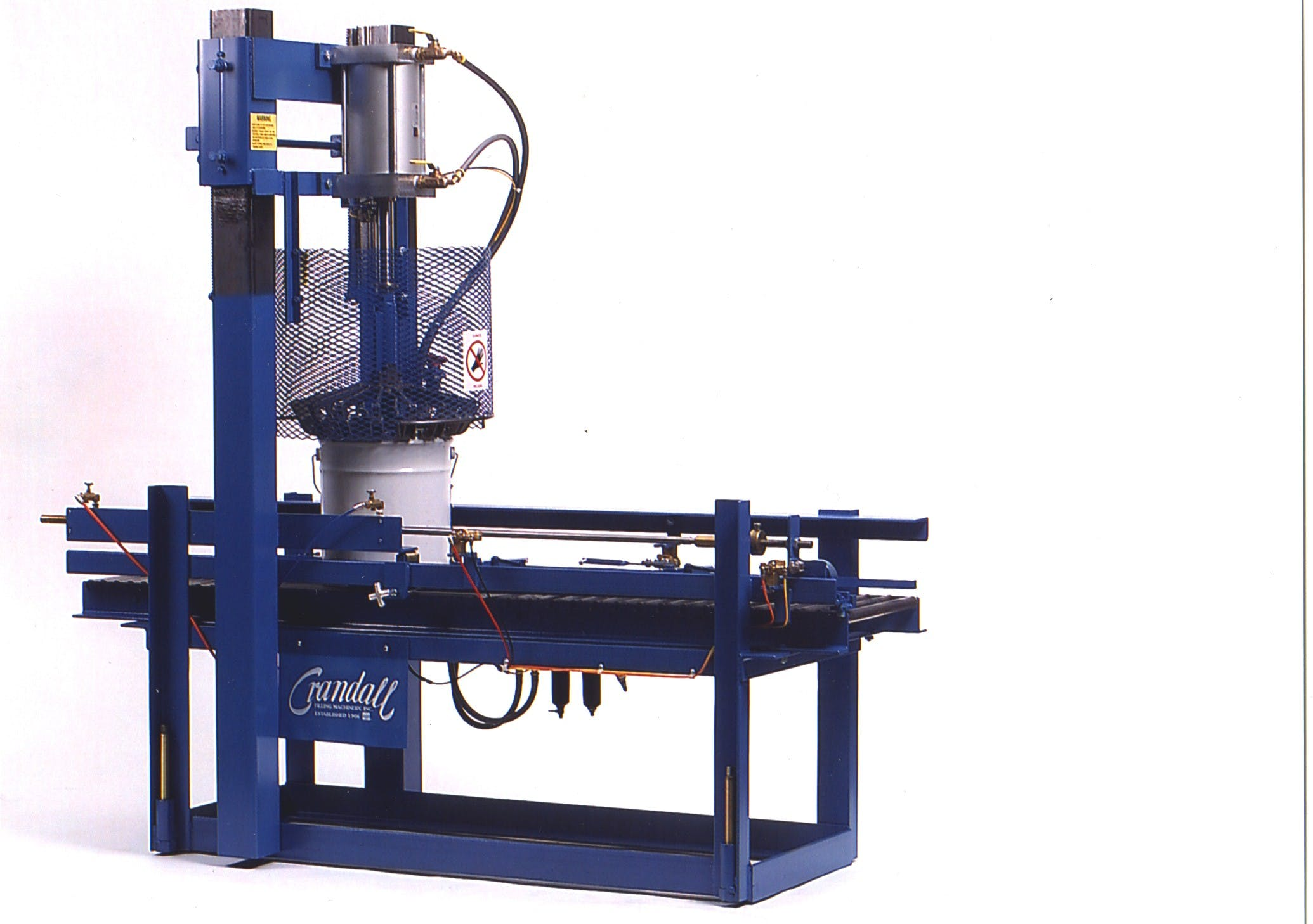 CRA/25 automatic pail closer Bottle crimper sold by Crandall Filling Machinery, Inc.