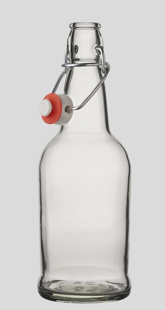 500ml/16oz Flint E.Z.Cap Swing/Flip Top Bottles Glass bottle sold by E.Z. Cap