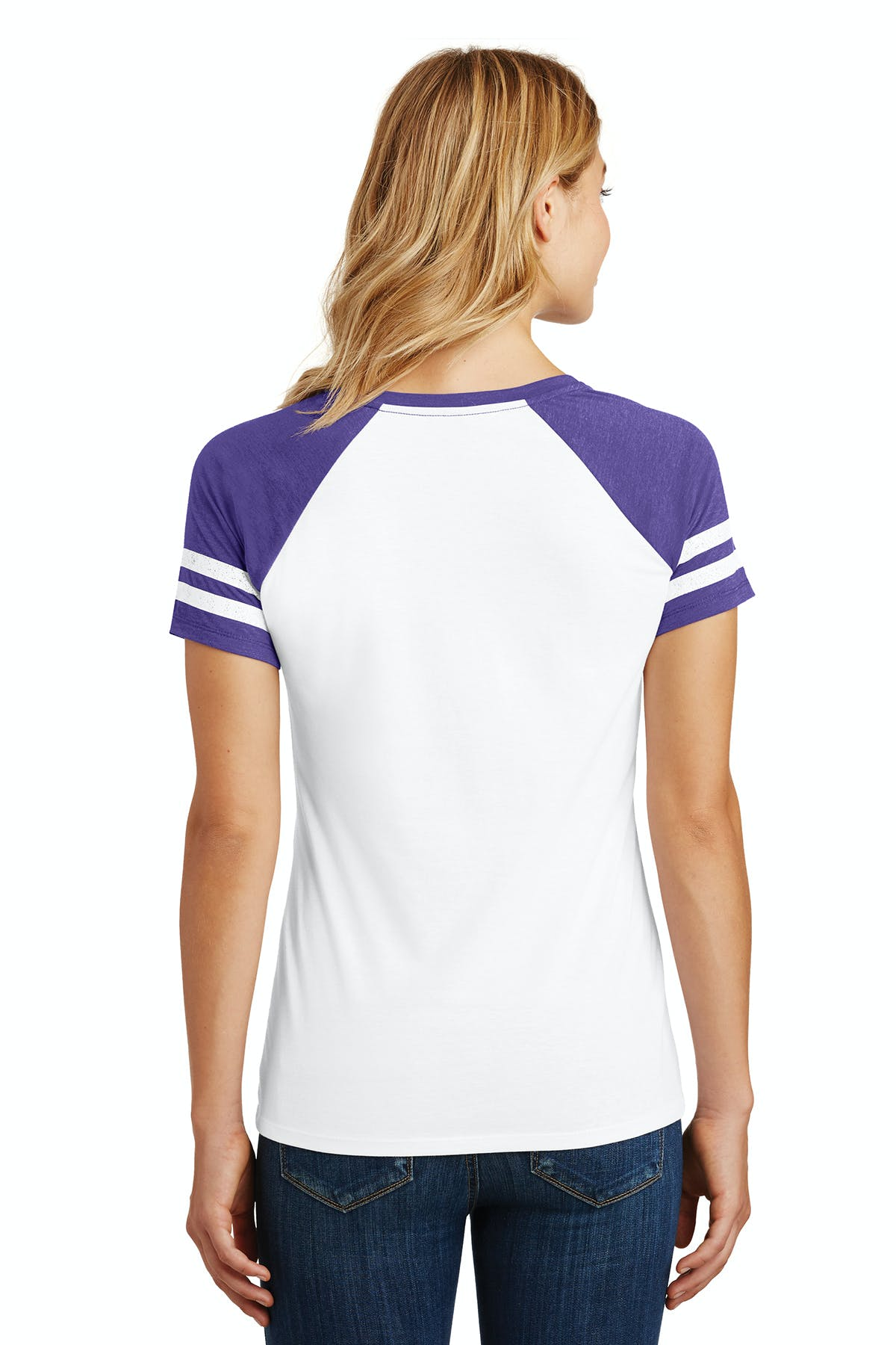 District Made® Ladies Game V-Neck Tee - sold by PRINT CITY GRAPHICS, INC