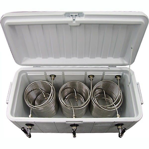 Triple Faucet Jockey Box - 120' Coils - Faucet Hardware Kit Jockey box sold by KegWorks