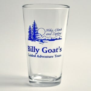 Printed Pint Glass. - 16 oz. Pint Glasses - sold by Glass With a Twist