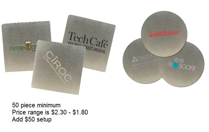 Stainless Coasters Drink coaster sold by Professional Gifting